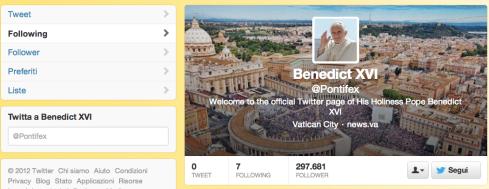 Papa - Twitter - @pontifex